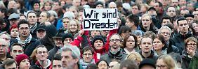 Gegen Pegida - für Weltoffenheit: 35.000 Dresdner zeigen Flagge
