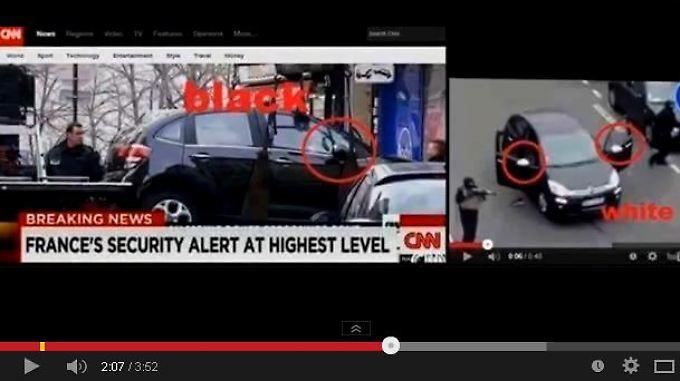 Mal hell mal dunkel - Bilder vom mutmaßlichen Fluchtwagen der Paris-Attentäter sorgen für hitzige Debatten in sozialen Netzwerken und auf Blogs.