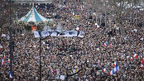 Trauermarsch in Paris: Millionen setzen Zeichen gegen den Terror