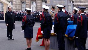 Terroropfer beigesetzt: Hollande nimmt Abschied von ermordeten Polizisten
