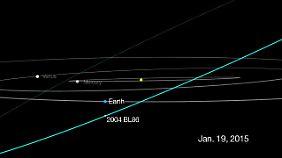 Am 26. Januar wird der Asteroid der Erde um 17.00 Uhr MEZ am nächsten sein. (im Bild: Stand von 2004 BL 86 am 19. Januar)