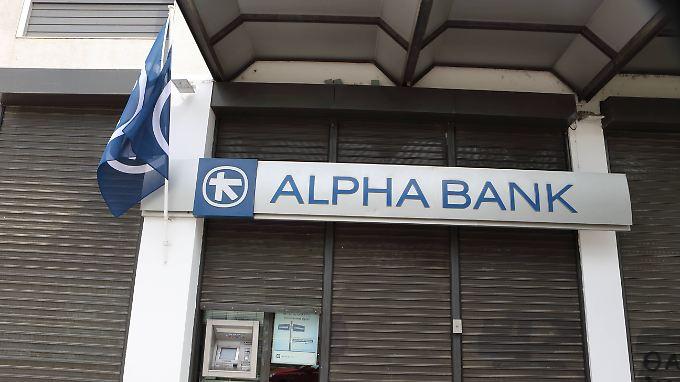 Die Alpha Bank ist eines der betroffenen Geldinstitute, das bei der Zentralbank vorstellig wird.
