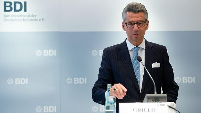Ulrich Grillo bei der Jahresauftakt-Pressekonferenz des BDI am Mittwoch in Berlin.