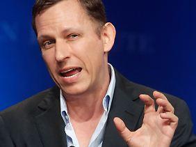 Internet-Investor Peter Thiel zu Gast in der Kalkscheune in Berlin-Mitte.