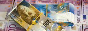 Aufwertung der Schweizer Währung: Nationalbank verliert 50 Milliarden Franken