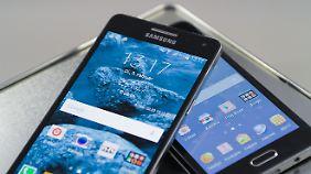 Galaxy A3 und Galaxy A5 sind schicke Mittelklasse-Geräte.