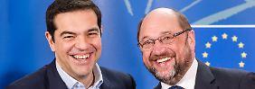 """Vertragstreue ist notwendig"": Schulz ermahnt Griechen"