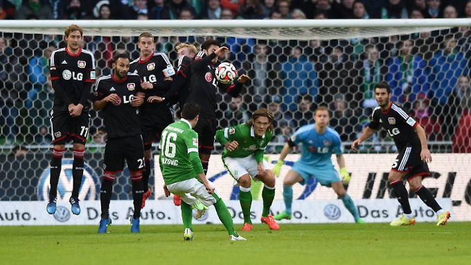 Bremer Kunstschütze: Zlatko Junuzovic traf per Zauberfreistoß zum zwischenzeitlichen 2:0 gegen Leverkusen.