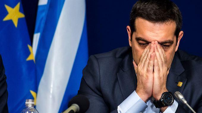 Kopf hoch, Herr Tsipras! Dass die griechische Wirtschaft leicht schrumpft, ist kein Drama - im Vergleich zum Vorjahresquartal legte sie deutlich zu.