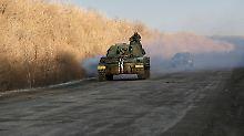 Die ukrainische Armee ist größtenteils mit veraltetem Gerät - hier eine Haubitze aus sowjetischer Produktion - ausgestattet.