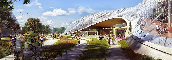 Und so soll es ab 2020 aussehen: Die Entwürfe für die neue Zentrale in der Computergrafik.