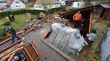 War es ein Tornado?: Unwetter zerstört 16 Dächer