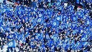 Zurück nach Wembley: Die Fans des FC Chelsea sind schon vor dem Endspiel frohen Mutes.