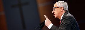 Jean-Claude Juncker sieht das Ansehen Europas in der Welt schwinden.