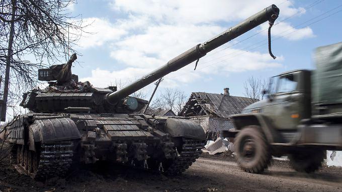 Ein Panzer der Separatisten in der Ostukraine.
