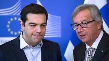 Treffen mit Juncker und Schulz: Tsipras will Wogen glätten