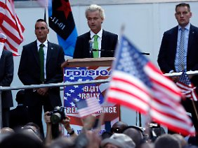 """""""Kein neues Mekka"""": Der holländische Rechtspopulist Geert Wilders in New York."""