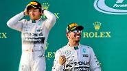 """""""Lewis ist gefahren wie ein Weltmeister. Ich habe alles gegeben, aber da war nichts zu machen"""", sagte Rosberg."""