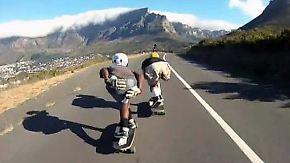 Longboard als Lebensretter: Skater düsen Südafrikas Tafelberg hinunter