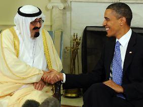 Der saudische König Abdullah war erst im Juni zu Gast im Weißen Haus bei US-Präsident Obama.