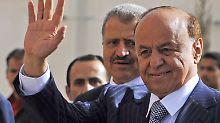 """""""Unter saudischem Schutz"""": Hadi flieht aus dem Jemen"""