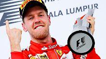 """Formel-1-Pilot will den WM-Triumph: Feiernder Vettel hatte """"richtig Schiss"""""""