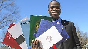 Studienplatz für Ausnahmeschüler: 17-Jähriger an allen acht US-Elite-Unis angenommen