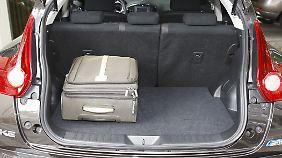 Wer im Juke reisen will, der muss sich auch beim Gepäck beschränken.