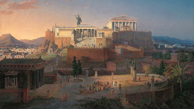 Leo von Klenze, Ansicht der Akropolis und des Areopag in Athen (1846)