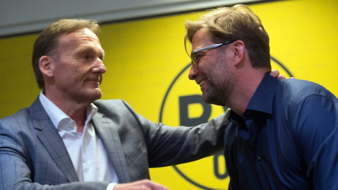 Abschied: Geschäftsführer Hans-Joachim Watzke und Trainer Jürgen Klopp.