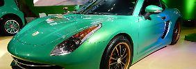 Ferrari oder Porsche? Weder noch! Es ist ein Eagle, der sich bei den beiden Sportwagenbauern designtechnisch bedient hat.