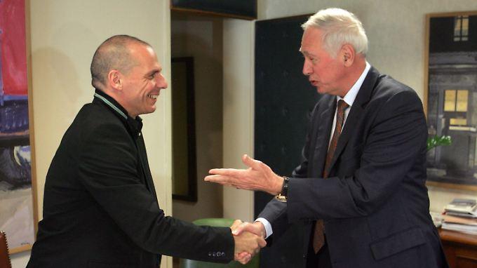 Verhandlungen in Athen: Yanis Varoufakis und Jacques de Watteville.