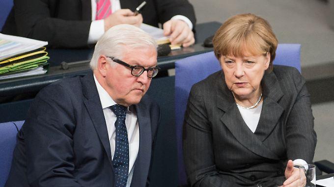 Zwei mögliche Mitwisser von vielen: Frank-Walter Steinmeier und Angela Merkel.