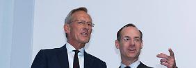 Michael Diekmann (links) geht, Oliver Bäte wird neuer Vorstandschef.