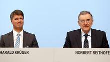 Norbert Reithofer übergibt die Geschäfte an Harald Krüger.
