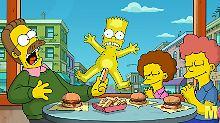 Auch im Kino waren die Simpsons bereits zu sehen - Shearer sprach auch hier seine Figuren wie Ned Flanders (l.).