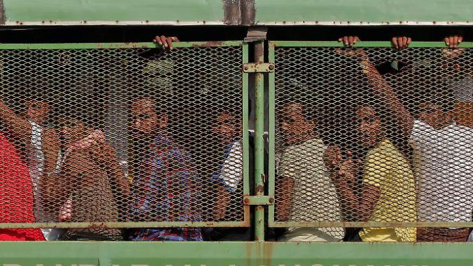 Diese Flüchtlinge werden von Malaysia wieder weggeschickt.