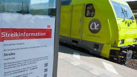 """Bahn: """"Schikane für Millionen"""": Lokführer der Bahn streiken auf unbestimmte Zeit"""