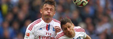 Augen zu und durch: Ivica Olic und Ivo Ilicevic, Hamburger SV.