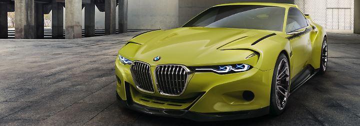 Auf dem Autoschönheitswettbewerb Concorso d'Eleganza Villa d'Este präsentiert BMW die Studie des 3.0 CSL.