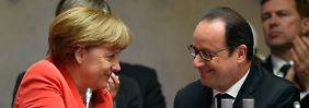 EU, Eurozone und Griechenland: Merkel und Hollande suchen Nähe