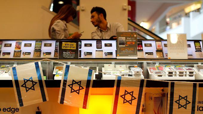 Orange-Geschäft in Tel Aviv.