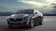 Der wuchtige Cadillac CTS V soll wie sein kleiner Bruder ATS-V auch auf der Rennstrecke zu Hause sein.