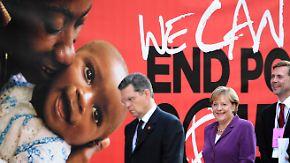 Millenniumsziele verfehlt: Merkel wirbt für neues Konzept
