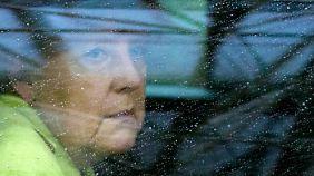 Merkel bei ihrer Ankunft am EU-Hauptquartier in Brüssel.