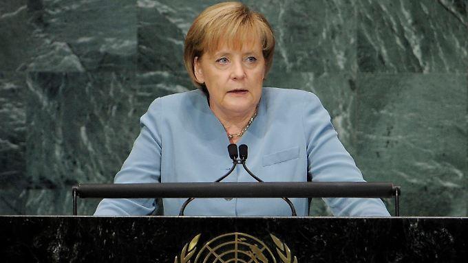 Bundeskanzlerin Merkel erklärt ihre Ziele der Entwicklungspolitik.