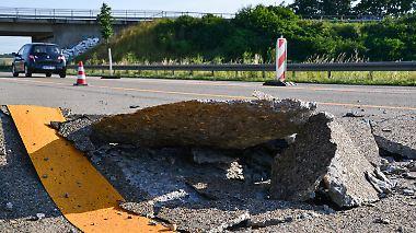 Geplatzter Asphalt auf den Straßen: Hitze hat Deutschland im Griff