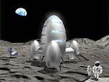 So stellten sich angehende Architekten der TU Darmstadt eine mögliche Mondstation vor – ein Entwurf von 2009. Damals diskutierten Wissenschaftler, Ingenieure, Verfahrenstechniker und Architekten auf dem Symposium Lunar Base in Karlsruhe, wie eine bewohnbare Station auf dem Erdtrabanten ausstehen könnte.