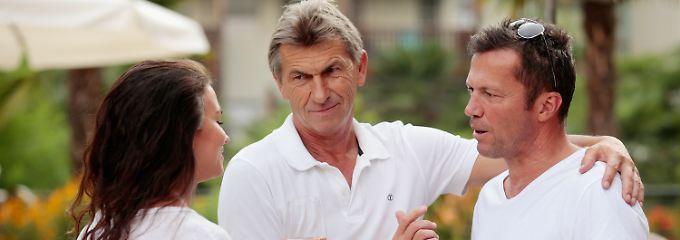 Klaus Augenthaler spielte 1990 beispielsweise bei den Bayern, Lothar Matthäus (r.) bei Inter Mailand.