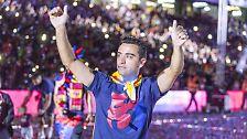 Xavi wurde von den Fans eine eigene Choreografie gewidmet.